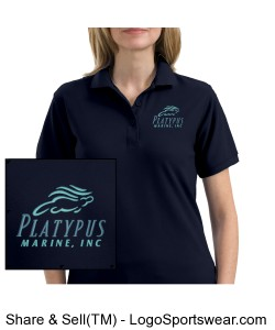 Womens Platypus Marine Silk Touch Polo Design Zoom