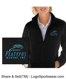 Womens Platypus Marine Fleece Full Zip Jacket Design Zoom