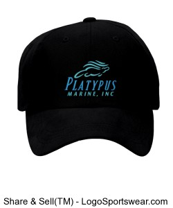 Platypus Marine Pre-Curved Billed Hat Design Zoom