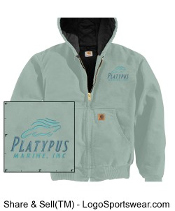 Womens Platypus Marine, Carhartt Sandstone Active Jac/Quilted Flannel Lined Design Zoom