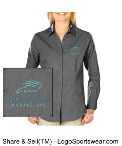 Womens Platypus Marine Crossweave Dress Shirt Design Zoom