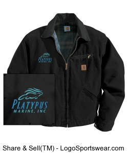 Mens Platypus Marine, Carhartt Duck Detroit/Blanket Lined Design Zoom