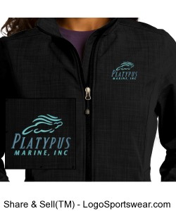 Womens Platypus Marine Eddie Bauer Crosshatch Soft Shell Jacket Design Zoom