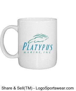 Platypus Marine 11oz Coffee Mug Design Zoom