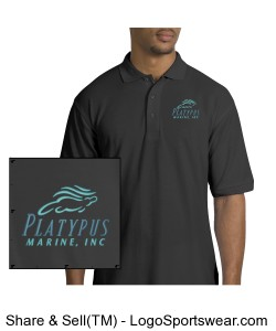 Mens Platypus Marine Silk Touch Polo Design Zoom