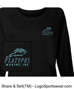 Womens Platypus Marine French Terry Slouchy Pullover Design Zoom